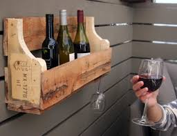 how to make a refurbished pallet wine rack with wine glass holder