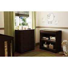 Espresso Changing Table South Shore Peek A Boo Espresso Changing Table 3559334 The Home
