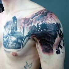 the incredible swords and shield tattoos on shoulder photos