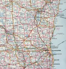 Wisconsin Road Map by Interstate Guide Interstate 43