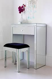 Glass Vanity Table With Mirror Small Mirrored Vanity Table 3801