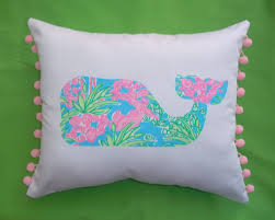 bedroom pillow with shark motif by lilly pulitzer bedding