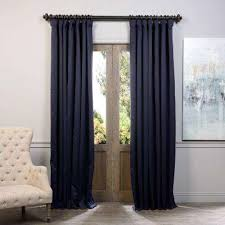 Navy Blue Curtains Navy Blue Curtains Drapes Window Treatments The Home Depot