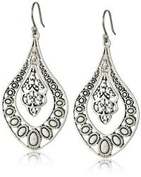 earrings brand lucky brand silver filigree oblong earrings dangle