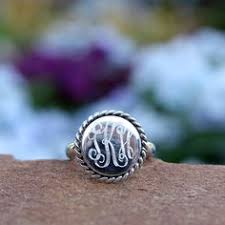 monogrammed silver ring monogrammed sterling silver ring in pinned it did it