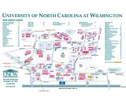 North Carolina Map University Of North Carolina At Wilmington Map University Of