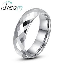 personalized wedding bands faceted tungsten wedding bands personalized tungsten carbide