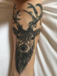 stag head designs first tattoo stag head design by laura evil needle alnwick uk