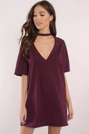 plunging neckline mine forever wine plunging neckline dress 40 tobi us