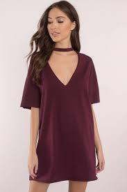 mine forever wine plunging neckline dress 20 tobi us