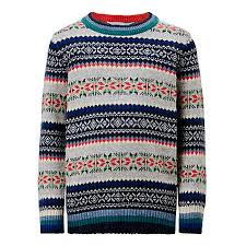 buy lewis boys fair isle knit jumper mutli lewis