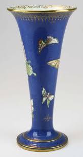 Wedgwood Vase Patterns Butterfly Lustre Trumpet Vase Pattern Z5068