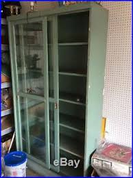vintage shelf barrister bookcase display cabinet sliding glass