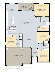 Barrington Floor Plan by Single Family Homes At Bridgetown At The Plantation Real Estate