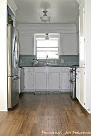 Small Kitchen Redo Ideas by Remodelaholic Small White Kitchen Makeover With Built In Fridge