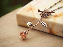 rose pendant necklace gold images Rose pendant necklace rose necklace rose gold flower jpg