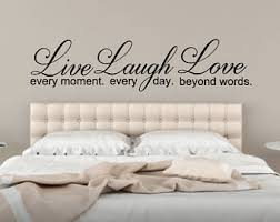 Wall Decal Quotes For Bedroom by Live Laugh Love Etsy