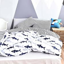 blue and white striped duvet cover canada navy within decor 15