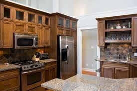 wood kitchen cabinets with black appliances kashiori com wooden