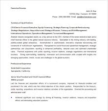 Executive Resume Template Word Free Executive Resume Templates 35 Free Word Pdf Executive Resume