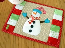Snowman Rug The Patchsmith Snowman Mug Rug Hats And Mittens