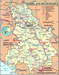 Map Of Serbia Iii Summer In Modern Mathematical Physics Travel Info