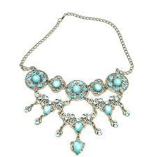 blue crystal necklace set images Long necklace art nouveau style on the verge of extinction jpg