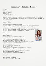 Chemical Technician Resume Sample Research Resume