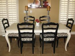 Painted Dining Room Sets Black Painted Dining Table Home And Furniture