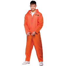 halloween costume robber mens usa convict prisoner robber orange jumpsuit fancy dress
