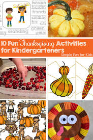 10 thanksgiving activities for kindergarteners simple