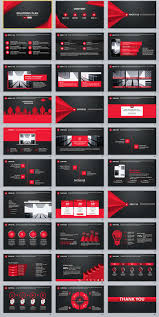 30 black red business plan powerpoint templates the highest