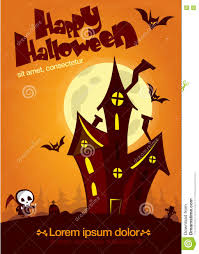 scary old ghost haunted house halloween card or poster vector