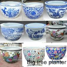 ceramic indoor planters australia large chinese hand painted lotus