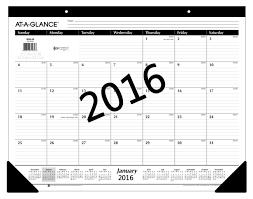 Small Desk Calendar 2015 Amazon Com At A Glance Monthly Desk Pad Calendar 2016 Ruled 21