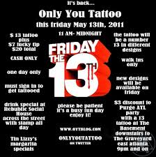 20 tattoos this friday only you tattoo