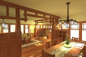 arts and crafts home interiors hewn and hammered a c interior 3d rendering