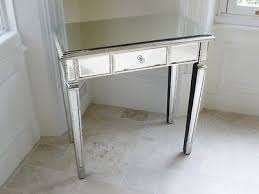 glass vanity table with mirror silver venetian mirrored console table hall table console dressing