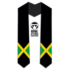 sashes for graduation jamaica country flag stole