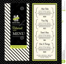 modern restaurant menu design template layout stock vector image