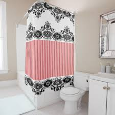 Pink Black And White Shower Curtain Vintage Black And White Shower Curtains Zazzle