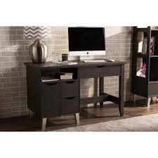 Espresso Desk With Hutch Baxton Studio Mckenzie Modern And Contemporary Dark Brown Wood 3