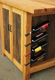 kitchen island with wine rack barnwood kitchen island rustic workstation wine rack cabinet