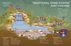 garden traditional pond system schematic design ideas beautiful