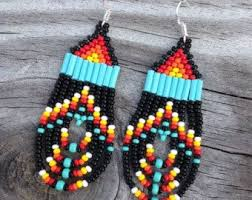 Ruby Red Long Brick Stitch 71 Best Beaded Earrings Images On Pinterest Bead Earrings
