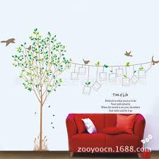 online get cheap birds and trees wall stickers aliexpress com tree of life memorial tree wall stickers living room bedroom window photo tree wall sticker photo