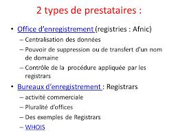 bureau d enregistrement nom de domaine module 3 le droit des marques et les noms de domaine ppt
