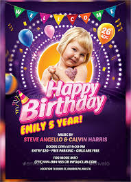 birthday party flyer vector image inspiration of cake and