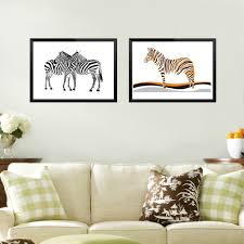 online get cheap zebra wall art canvas aliexpress com alibaba group minimalist zebra series picture frameless wall art canvas wall paintings home living room decoration china