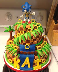 sonic the hedgehog cake toppers top ten sonic the hedgehog cakes birthday express creative ideas